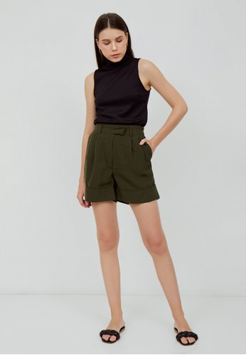 Saehwa green Gia Shorts Green 355F2AAB566D27GS_1