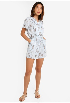 fb3aee6781 32% OFF Something Borrowed Buttoned Shirt Playsuit S$ 34.90 NOW S$ 23.90  Sizes XS S M L XL