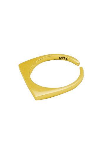 LYCKA gold LDR1203 S925 Silver Minimal Square Style Ring 898A2ACC327422GS_1