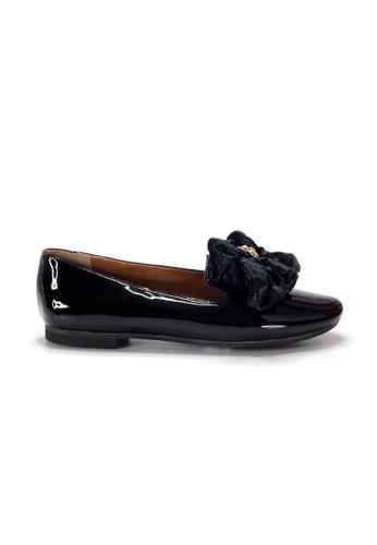 Shu Talk black LeccaLecca Patent Leather BOW BOW Flats 470ACSH2DD3523GS_1