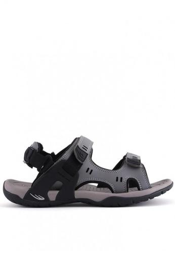 World Balance grey Terracotta MS Sports Sandals DD10BSHAA441F8GS_1