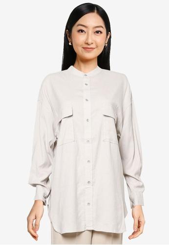 JEANASIS white Pocket Detail Shirt FDBE5AA72CA27BGS_1