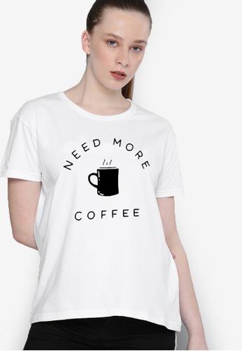 Greatvalueplus white Need Coffee Women's Round Neck T-Shirt D365DAA5FF9590GS_1