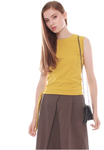 JOVET yellow Side Tie Top 5DC5BAA050855BGS_1