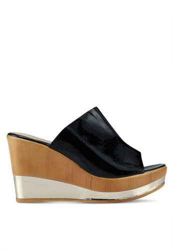 Carlton London black Mule Heels E77B5SHB66BECCGS_1