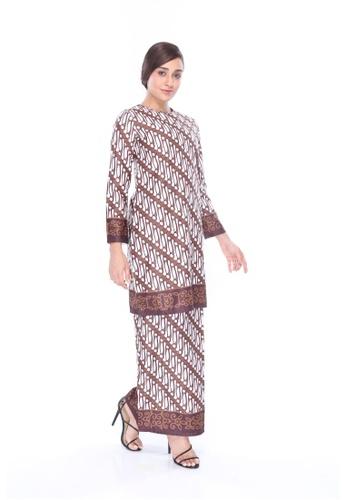 Amar Amran brown Kurung Moden Batik Parang 6FC01AAC87EA57GS_1