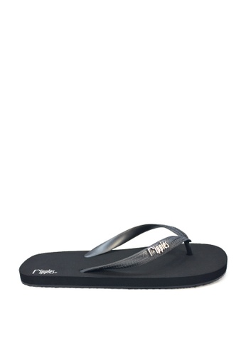 Ripples black Andre Basic Men Flip Flops (Black) RI425SH0GLNXSG_1