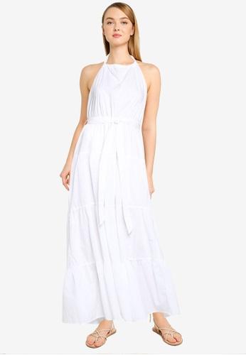 Cotton On white Woven Daisy Halter Neck Maxi Dress 44A6BAA14EFC45GS_1