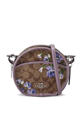 Coach brown and purple Canteen Crossbody Bag (cv) 8638DACA88A161GS_1
