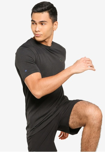 Under Armour black Rush Seamless Fitted Short Sleeve T-Shirt D0C87AA9E5B1C8GS_1