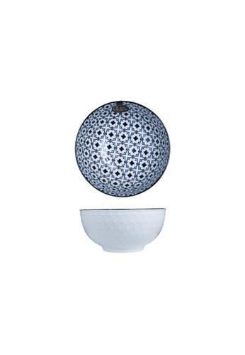 Table Matters multi Crisscross Blue - 4.5 inch Rice Bowl 49AABHLBCED10CGS_1