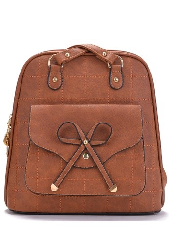 Vince brown Korean Designed Minimalist BackPack ( Brown ) VI456AC75UQYMY_1