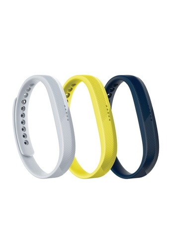 Fitbit grey and yellow and blue Fitbit Flex 2 Classic Accessories Band, 3 in a Pack (Sport) 04EE5ACBE472CFGS_1