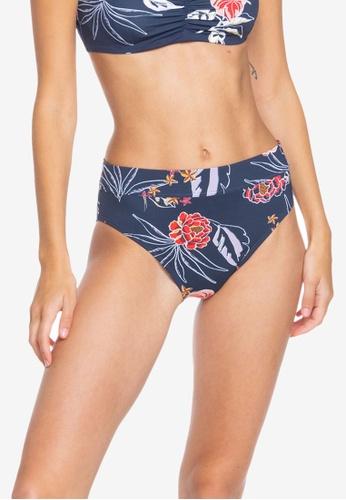 Roxy navy Sunset Boogie Regular Bikini Bottoms 09673AA7C9A4F4GS_1