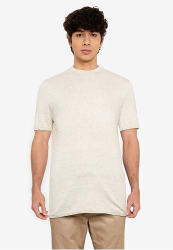 Only & Sons 綠色 Flex Life 短袖亞麻針織T恤 2AEDBAA20290E3GS_1