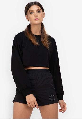 ZALORA ACTIVE black Raw Hem Cropped Sweatshirt 71B09AA722E796GS_1