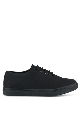 ZALORA black Minimalist Lace Up Sneakers AABACSH18A90E0GS_1