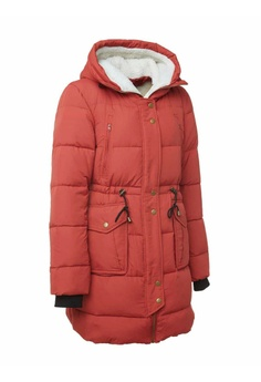 50f34010fb7e Universal Traveller red Ladies Quilted Down Jacket with Sherpa Fleece  81874AA59C0625GS 1