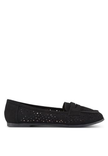 Dorothy Perkins black Wide Black Lana Loafers 6E321SH10BF86FGS_1