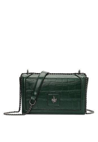 Swiss Polo green Chain Sling Bag 434DBAC1286832GS_1