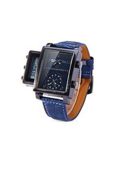 Oulm Digital Day Alarm Wrist Watch - Blue