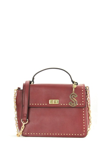 SEMBONIA red SEMBONIA Synthetic Leather Satchel Bag (Red) 3A767AC31A9439GS_1
