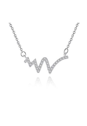 SUNRAIS silver Premium Silver S925 Silver Simple Design Necklace 85645ACE3BD541GS_1