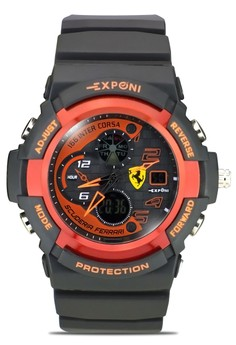 Unisex Silicone Rubber Strap Sports Watch 3250