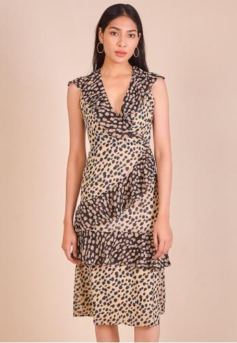 97d81df0e986 Buy Dressing Paula Ruffled Leopard Print Dress Online