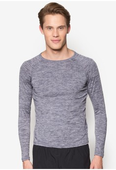 Long Sleeve Marl Compression Top