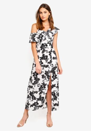 Preen & Proper multi Asymmetric Ruffle Floral Maxi Dress 5F37EAABCBDCF9GS_1