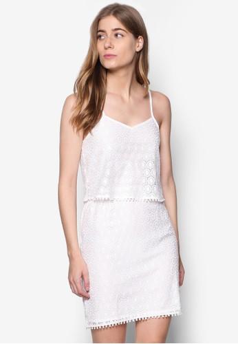 Fauve 鉤針蕾絲細肩帶連esprit hk office身裙, 服飾, 洋裝