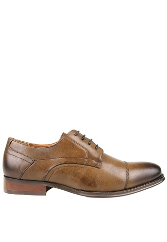 Tomaz brown Tomaz F204 Derby Lace Up Formals (Coffee) 45A0ESHB851356GS_1