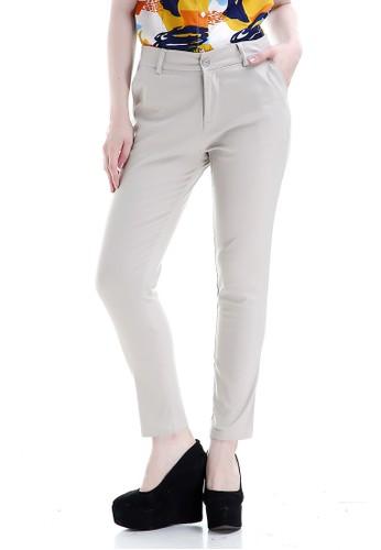 Evernoon n/a Tinsley Celana Chino Bawahan Wanita Kasual Motif Solid Long Pants Woman - Cream 4B24FAACD7F108GS_1