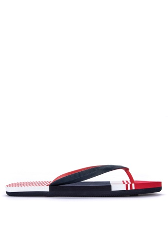 BENCH blue Stripe Rubber Slippers CA849SH9F6F6EAGS_1