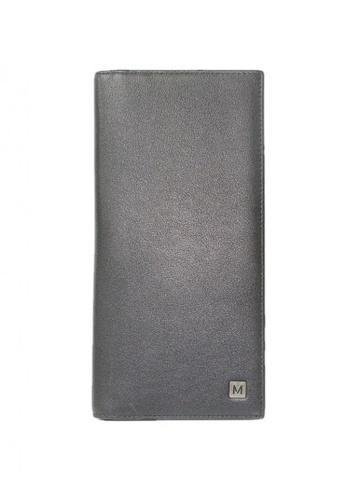 Mc Jim black Montegani Cheque Wallet With Card Slot 7B10DAC82E3D70GS_1