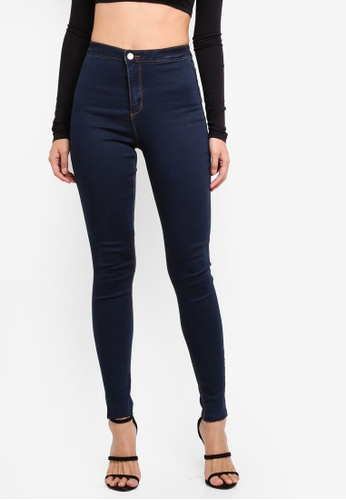 MISSGUIDED blue Vice Highwaisted Skinny Jeans 63C06AAC780573GS_1