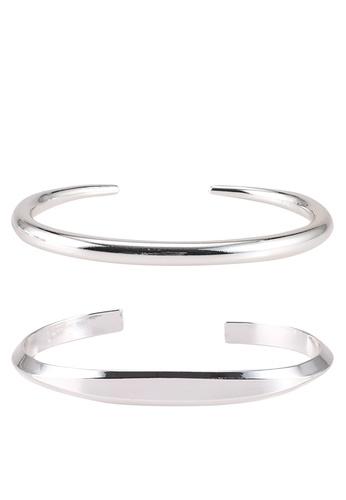 Mango silver Rigid Bracelet Set AED6CACFB40E89GS_1