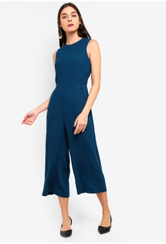 833d26aede4 ZALORA blue Metal Poppers Details Jumpsuit EE4EEAA4B2BBFAGS 1