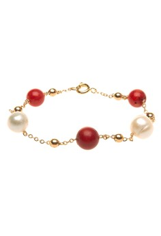 Freshwater Pearl and Coral Dancing Necklace