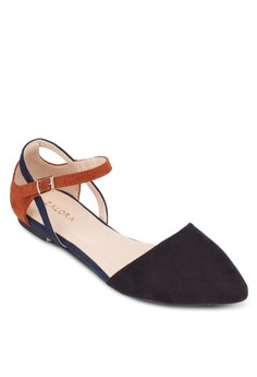 Pointed Cut-Out Ballerinas