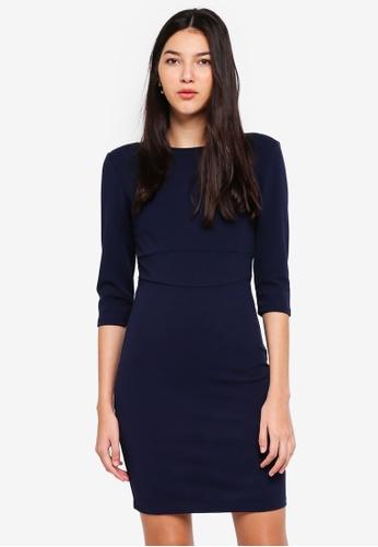 JACQUELINE DE YONG black Lauren 3/4 Dress 86C88AA90BA53CGS_1