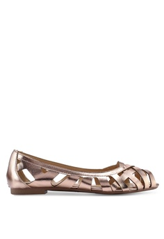 7df41695a1f Dorothy Perkins pink and gold Rose Gold Tan Perla Weave Pumps  BBD14SH921A8A0GS 1