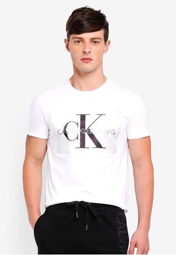 Calvin Klein 白色 Satin Slim Tee - Calvin Klein Jeans 03B01AA30090CFGS_1