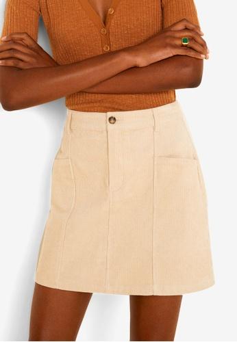 Mango white Corduroy Skirt 8C963AA07D0F3CGS_1