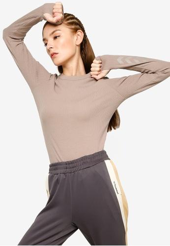 Hummel 褐色 Bell 長袖T恤 59769AA61F39F6GS_1