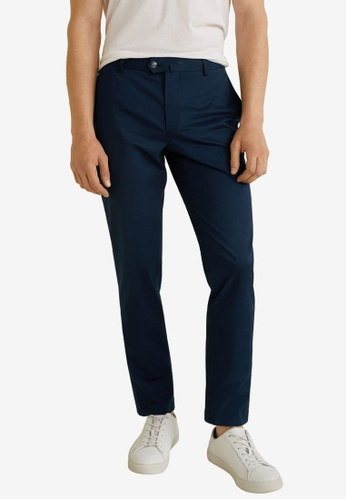 MANGO Man 藍色 Slim-Fit Chinos Trousers 0483FAACC53D07GS_1