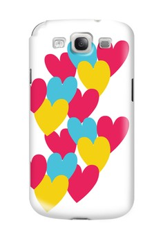Hearts Semi-Transparent Case for Samsung Galaxy S3