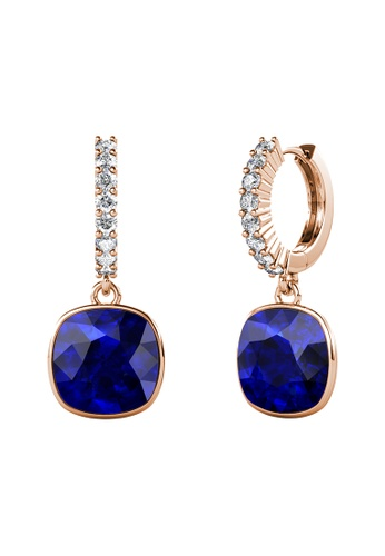 LOVE AND LIFE gold Love & Life Callista Square Earrings (Rose Gold Majestic Blue) Embellished with Swarovski Crystals AC75CACF3E459AGS_1