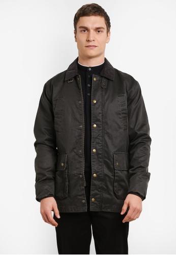 Topman 綠色 Corduroy Collar 夾克 TO413AA0SHCPMY_1